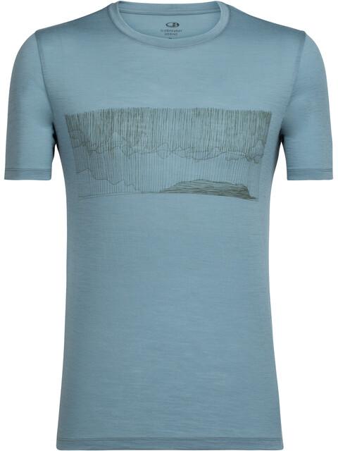 Icebreaker Tech Lite Hard Rain - Camiseta manga corta Hombre - azul